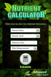 advanced nutrients calculator